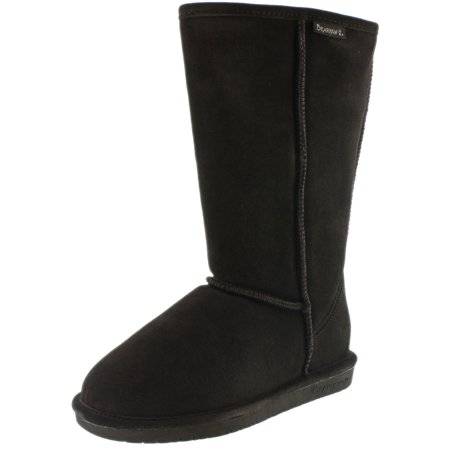 Bearpaw Women's Emma Tall Chocolate Knee-High Sheepskin Boot - 10M