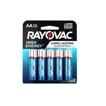 10-Pk Rayovac High Energy Alkaline AA Batteries