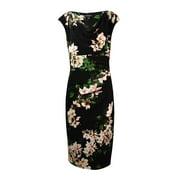 Lauren Ralph Lauren Women's Cowl Neck Printed Jersey Dress