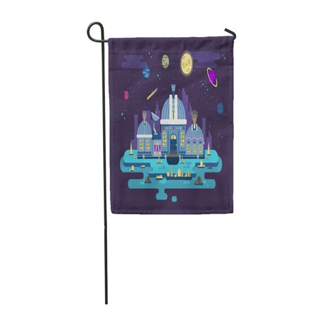 Shock Spacer (SIDONKU Sky Stock of UFO Observatory for Space Exploration in Flat Garden Flag Decorative Flag House Banner 12x18 inch )