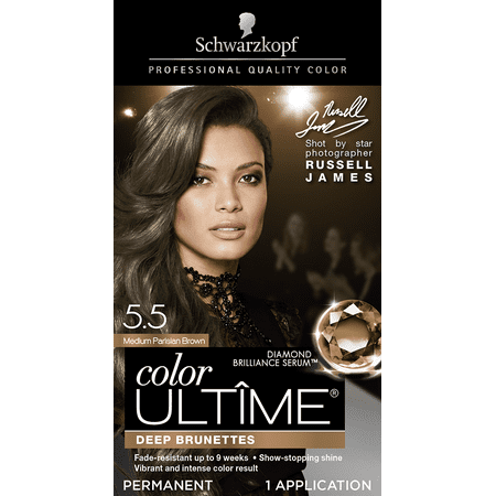 Schwarzkopf Color Ultime Permanent Hair Color Cream, 5.5 Medium Parisian (Best Hair Dye To Use On Weave)