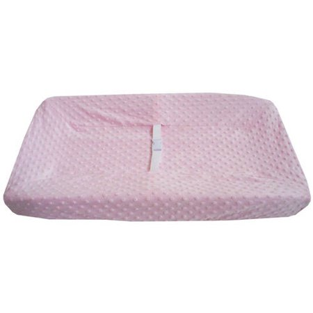 American Baby Company Heavenly Soft Minky Dot Fitted Contoured Changing Pad Cover