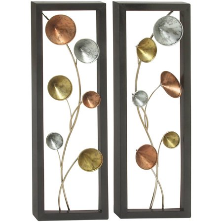 Fine Looking Metal Wall Decor 2 Assorted