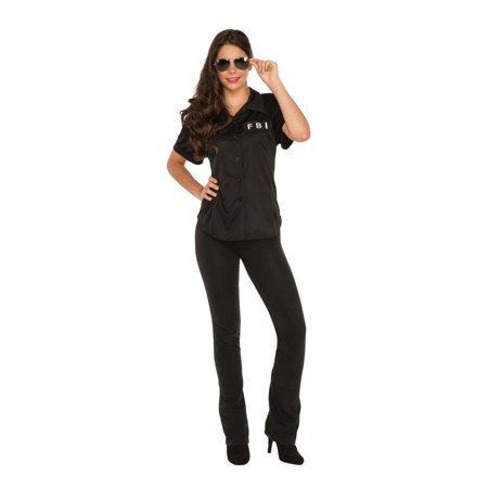 Halloween FBI Women's Shirt (Women's Fbi Agent Costume)
