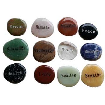 Worry Stones (RBI Worry Stone Pocket Size Inspirational Word Hold For Stress Anxiety)