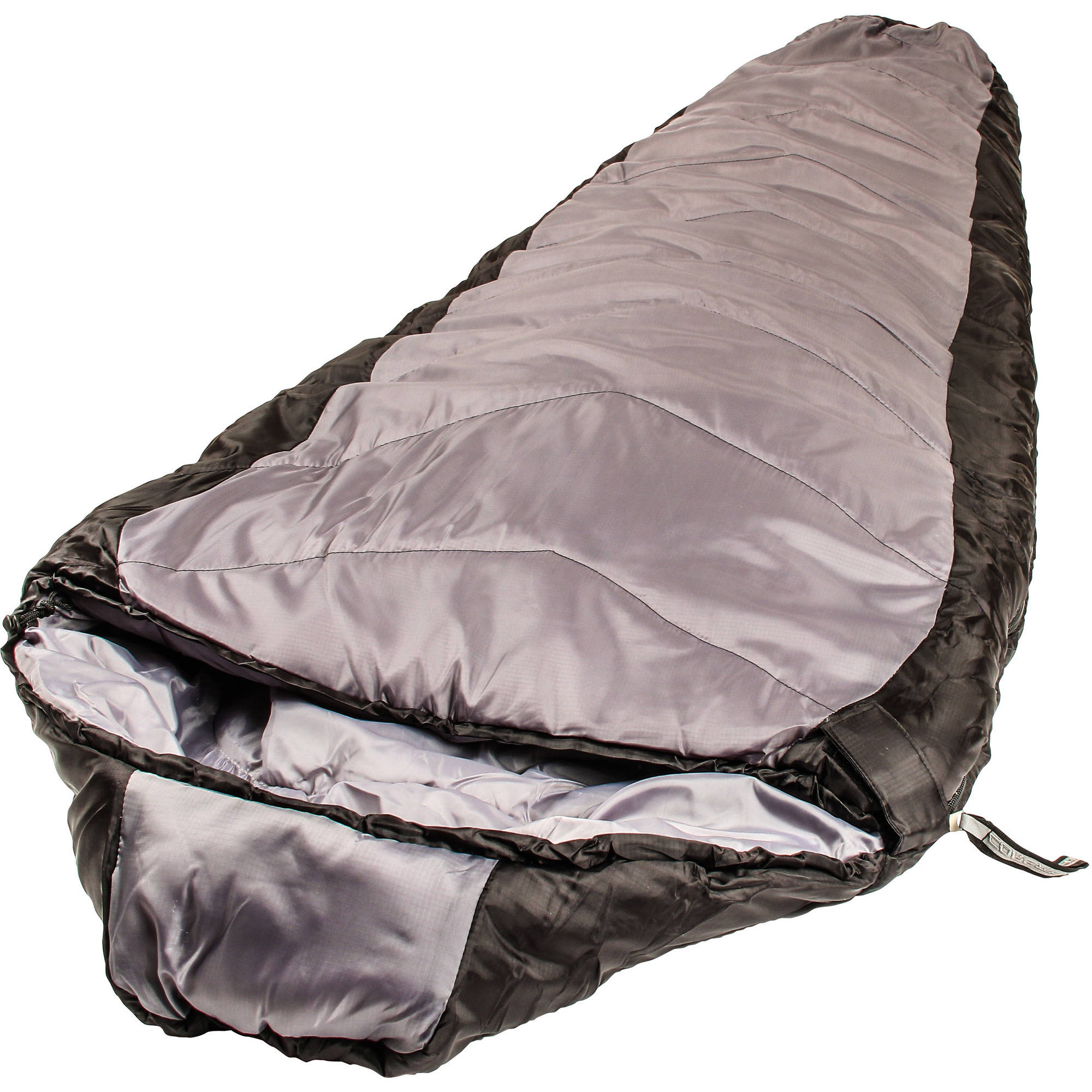 North Star CoreTech 0-Degree Adult Mummy Sleeping Bag, Black/Gray