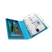 "Avery 1"" Mini Durable View Binder, Round Ring, Aqua, 175 Sheets"
