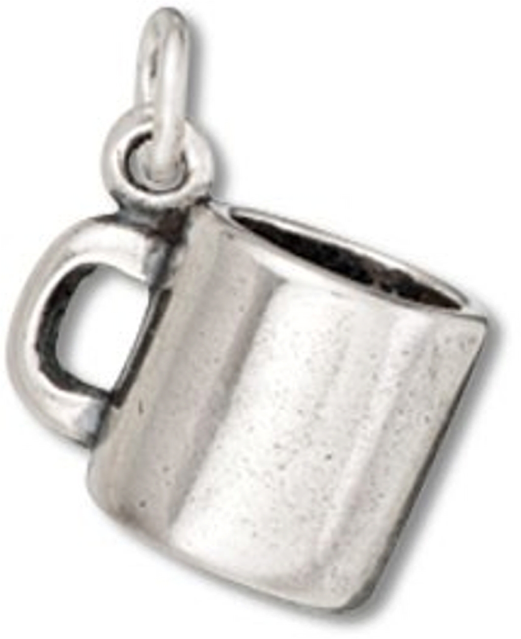 Sterling Silver Girls .8mm Box Chain 3D Iron Kettle Pendant Necklace