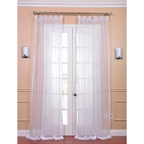 EFF White Poly Voile Sheer Curtain Panel Pair 120inch  Walmart.com