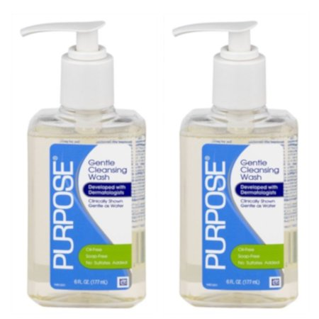 2 Pack Purpose Gentle Cleansing Face Wash 6 oz