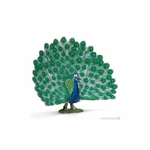 Peacock Figurine by Schleich - 13728