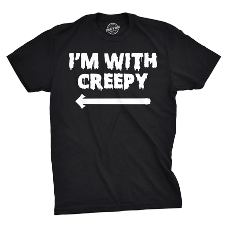 Pittsburgh Dad Halloween (Mens I'm With Creepy T Shirt Funny Costume Ideas Halloween T Shirt for)