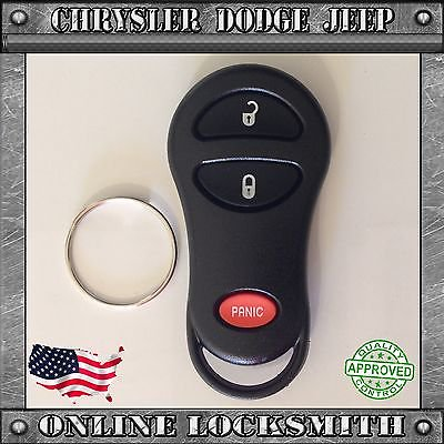 Dodge Keyless Entry Remote - New Replacement Keyless Entry Remote Shell Case Fob Chrysler Dodge 3 Buttons
