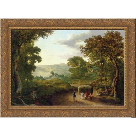 Berkshire Hills 24X19 Gold Ornate Wood Framed Canvas Art By Inness  George