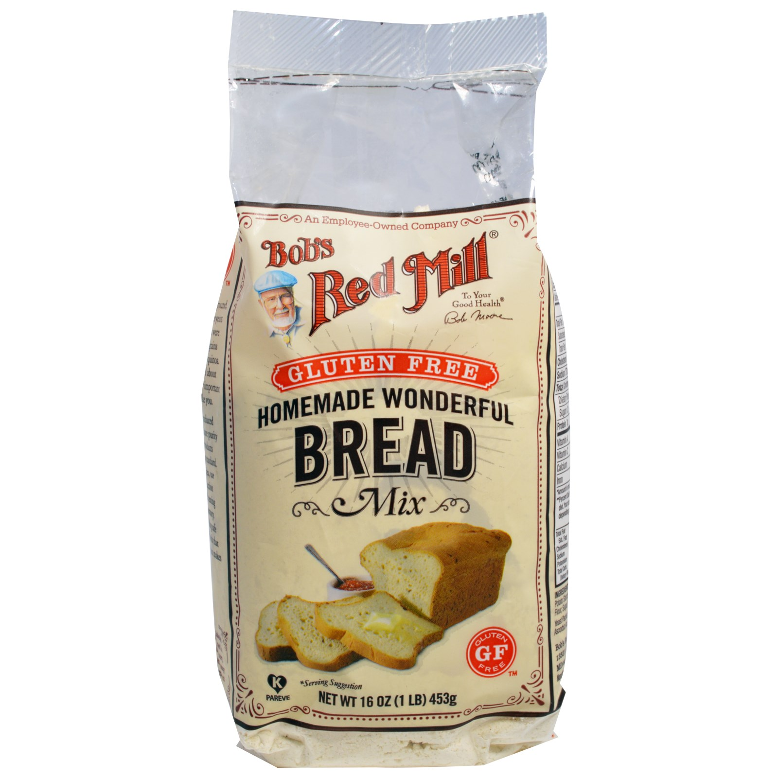 Bob's Red Mill, Homemade Wonderful Bread Mix, Gluten Free, 16 oz (pack of 2)