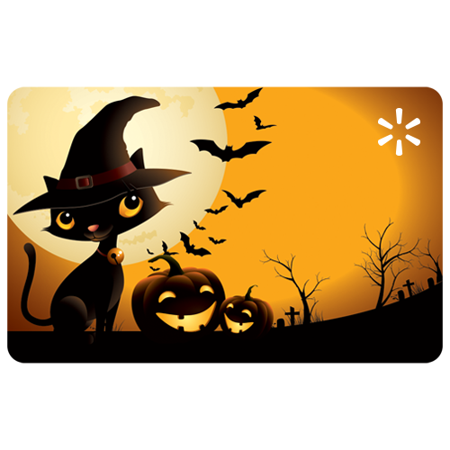 Halloween Cats Walmart eGift Card