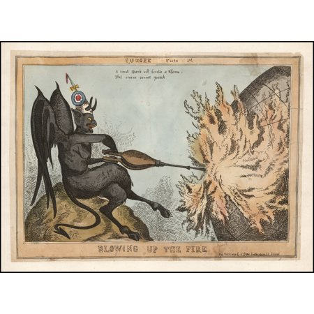 LAMINATED POSTER Blowing Up The Fire -- Europe Plate - 1st A small spark will kindle a Flame That oceans cannot quench POSTER PRINT 24 x