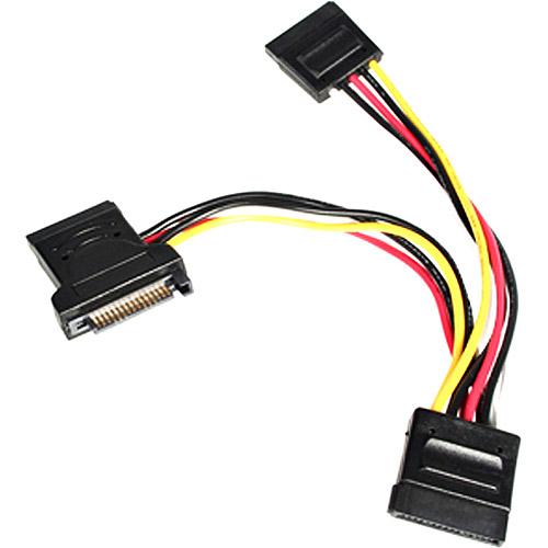 StarTech.com PYO3SATA 4in SATA Power Y Splitter Adapter Cable