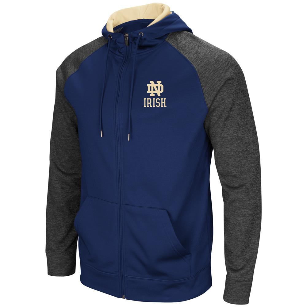 Notre Dame Fighting Irish Men's Full ZipHoodie Fleece Jacket by Colosseum