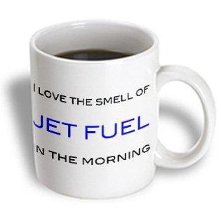 3dRose I love the smell of jet fuel in the morning, Blue, Ceramic Mug, (Jet Ski Mug)