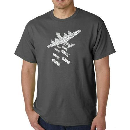 Los Angeles Pop Art Big Men's T-Shirt - Drop Beats Not Bombs