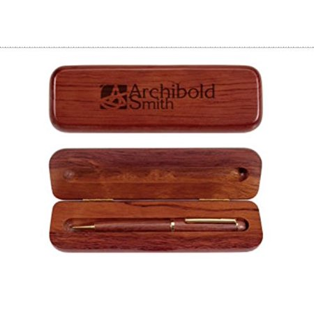 Rosewood Ballpoint Pen in ENGRAVED Wood Gift Box CUSTOMIZE ONLINE (Box Engraved)