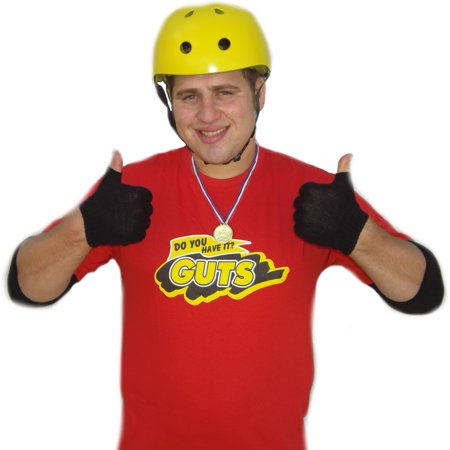 90's Couple Halloween Costumes (Guts Red Team T-Shirt Global Guts Costume 90's TV Game)