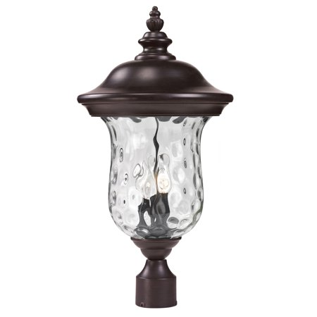 Outdoor Accessory 3 Light With Bronze Finish Aluminum Candelabra Base Bulb 12 inch 180 Watts
