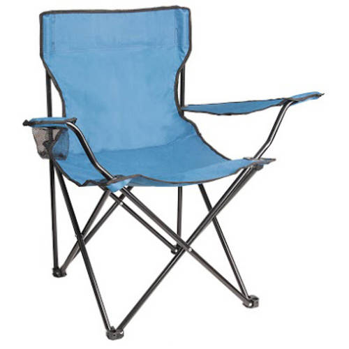 ALEKO BC02 Foldable Camping Hiking Beach Chair Outdoor Picnic Lounge Patio  Lawn Garden Chair, Light