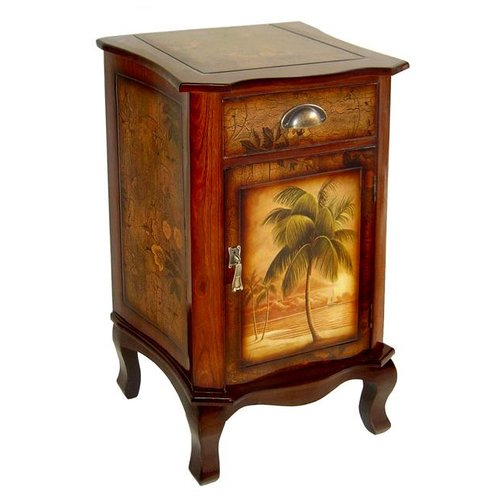 Cheungs Wooden Palm Tree Design Cabinet