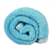 Pet Dog Puppy Cat Mat Soft Fleece Blanket Quilt Bed Cushion Pad Blue