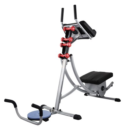 BestEquip GSC 02 Series Abdomen Machine 330LBS Abdominal Coaster Exercise Equipment With Adjustable Seat For Muscle Training