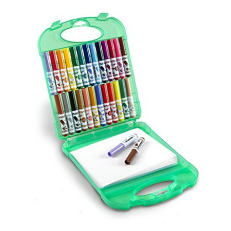 Crayola Pip-Squeaks Washable Markers & Paper Set, 25 Markers, 40 Sheets of Paper, and Durable Case, Travel Coloring - Washable Paper