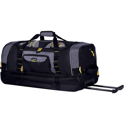 "TPRC 30"" 2-Section Drop-Bottom Rolling Duffel, Black"