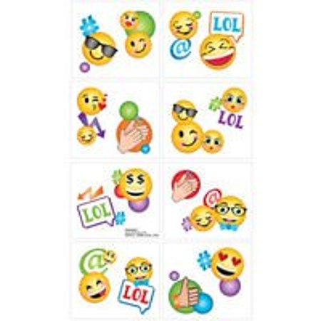 Amscan Emoji Temporary Tattoo Favors, 16 Count](Tattoo Emoji)