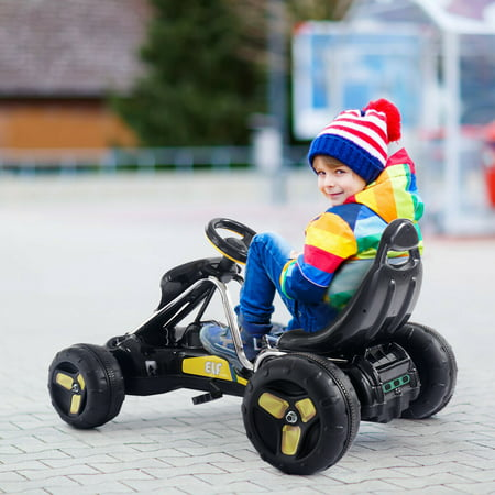 Go Kart Kids Ride On Car Pedal Powered Car 4 Wheel Racer Toy Stealth Outdoor - image 5 of 8