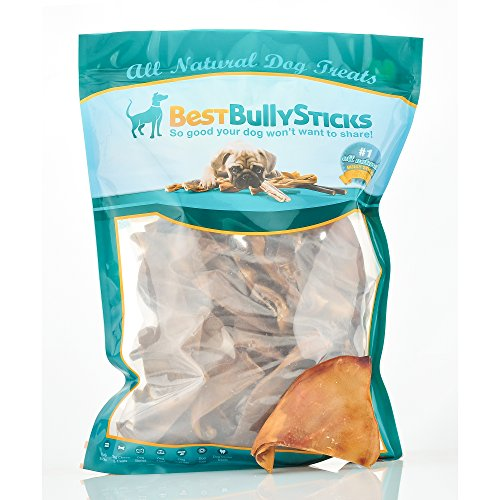 Best Bully Sticks 100% Natural Half Pig Ears, 50 Count