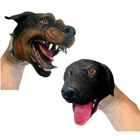 Dog Hand Puppet (Sold Indivudally - Styles Vary) - Puppet by Schylling - Puppet Doll Halloween Makeup