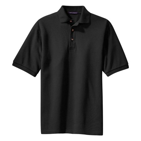Port Authority Mens Heavyweight Pique Knit Polo Shirt