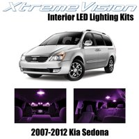 XtremeVision LED for Kia Sedona 2007-2012 (11 Pieces) Cool White Premium Interior LED Kit Package + Installation Tool