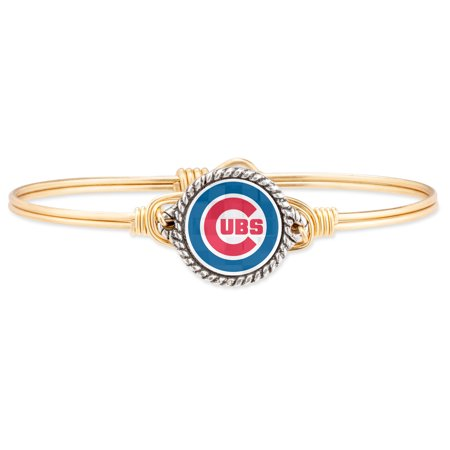 Chicago Cubs Luca + Danni Women's Bangle Bracelet - Gold - No -