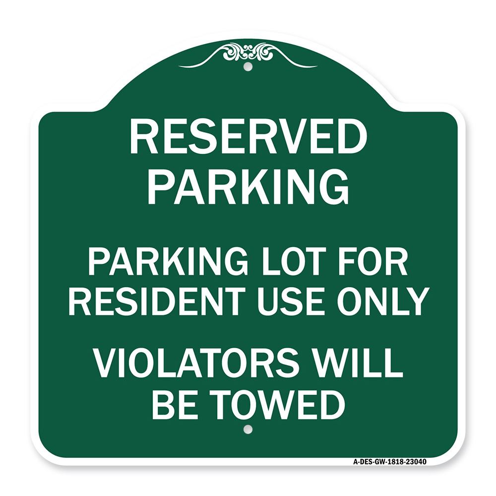 Lincoln/'s Parking Only All Others Will Be Towed Name Novelty Metal Aluminum Sign