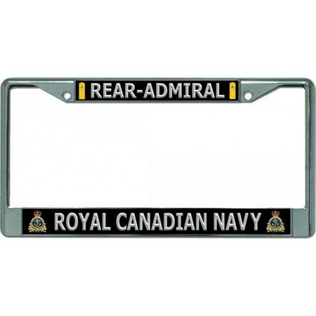 Royal Canadian Navy Rear-Admiral Chrome License Plate Frame - image 1 de 1
