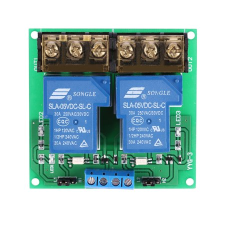 2-Channel DC 5V 30A Relay Board Module Optocoupler Isolation High/Low (Isolation Relay)