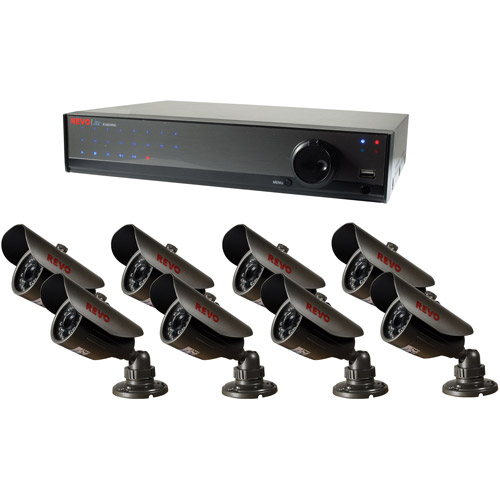 Revo Lite 16-Channel 2TB 960H DVR Surveillance System with Eight 700TVL Bullet Cameras