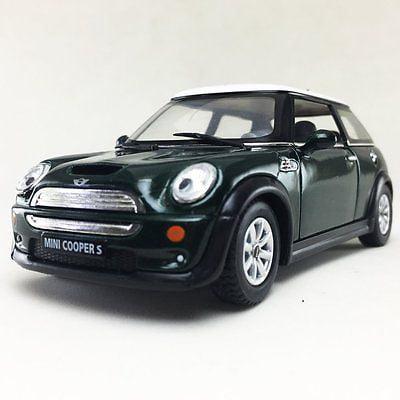 """5"""" Kinsmart Mini Cooper S Diecast Model Toy Car 1:28 Green"""