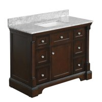 "Sydney 42"" Bathroom Vanity with Chocolate Cabinet & Carrara Marble Top"