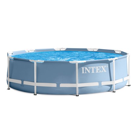 Intex 12 Feet x 30 Inches Prism Frame Above Ground Pool with 530 GPH Filter Pump - Pool City Cranberry