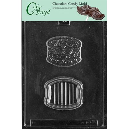 Cybrtrayd Life of the Party K059 Birthday Cake Pour Box Chocolate Candy Mold in Sealed Protective Poly Bag Imprinted with Copyrighted Cybrtrayd Molding Instructions