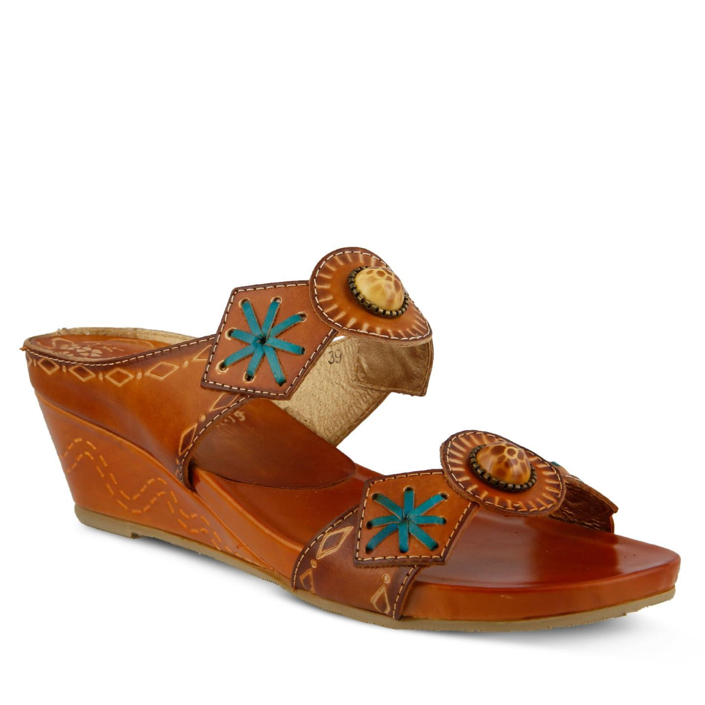 L'Artiste Sesame By Spring Step Brown Leather Sandal 41 EU   10 US Women by Spring Step